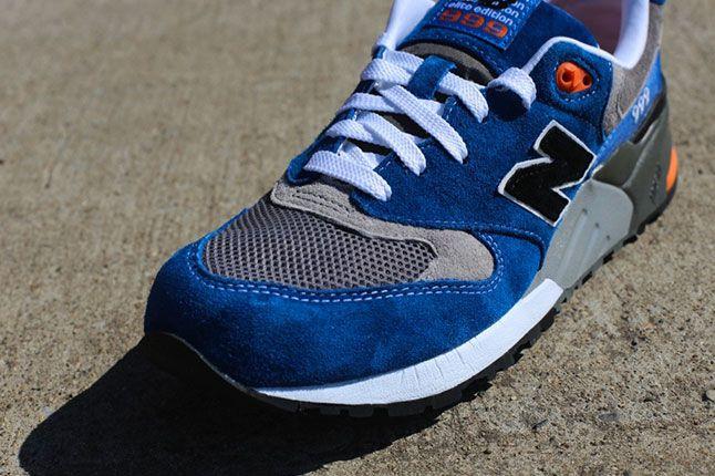 New Balance 999 Elite Blue Grey Orange Toe 1