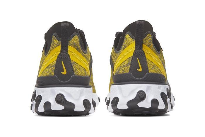 Nike React Element 55 Yellow Snakeskin Release Date Heel