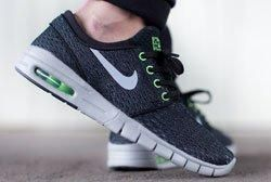 Nike Sb Janoski Max Blackwolf Greyflash Lime Feature