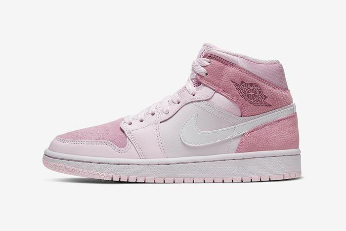Air Jordan 1 Mid Wmns Digital Pink Lateral