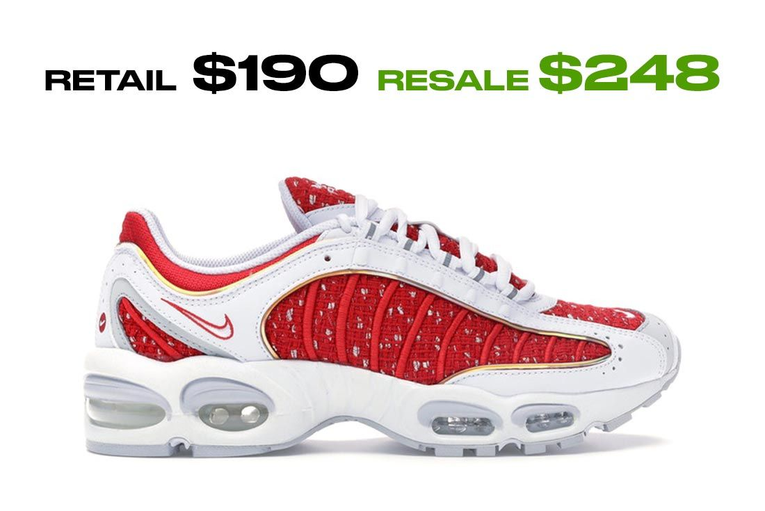 Supreme X Nike Air Max Tailwind 4 Red Right Side Shot