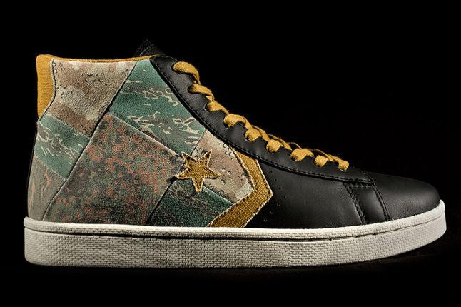 Stussy Chapters Converse First String Pro Leather Profile 1