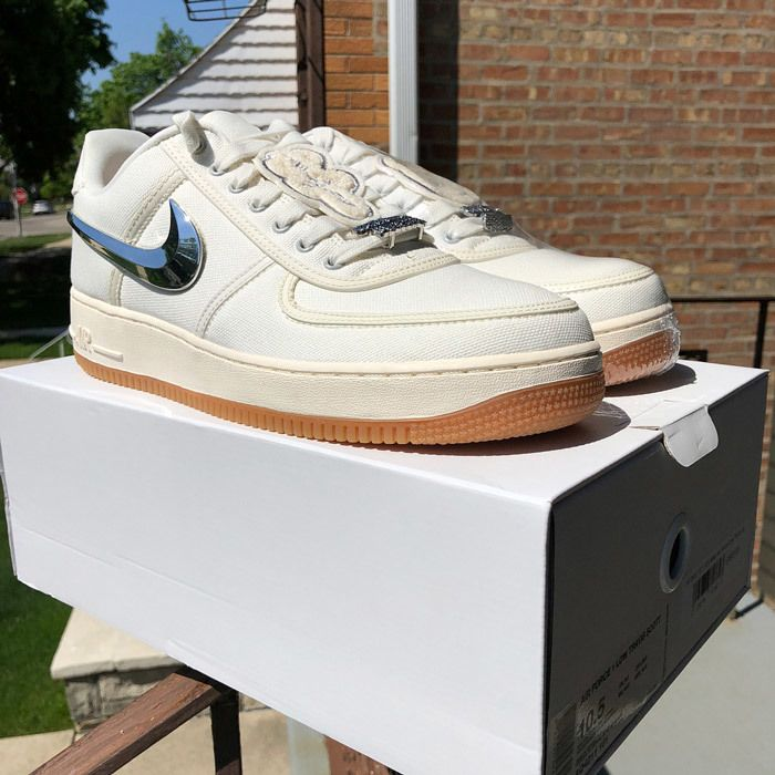 Travis Scott Nike Air Force 1 Sail 1