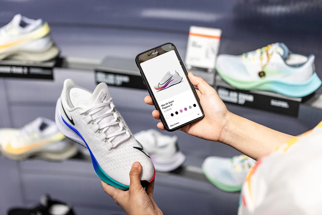 nike app and shoe