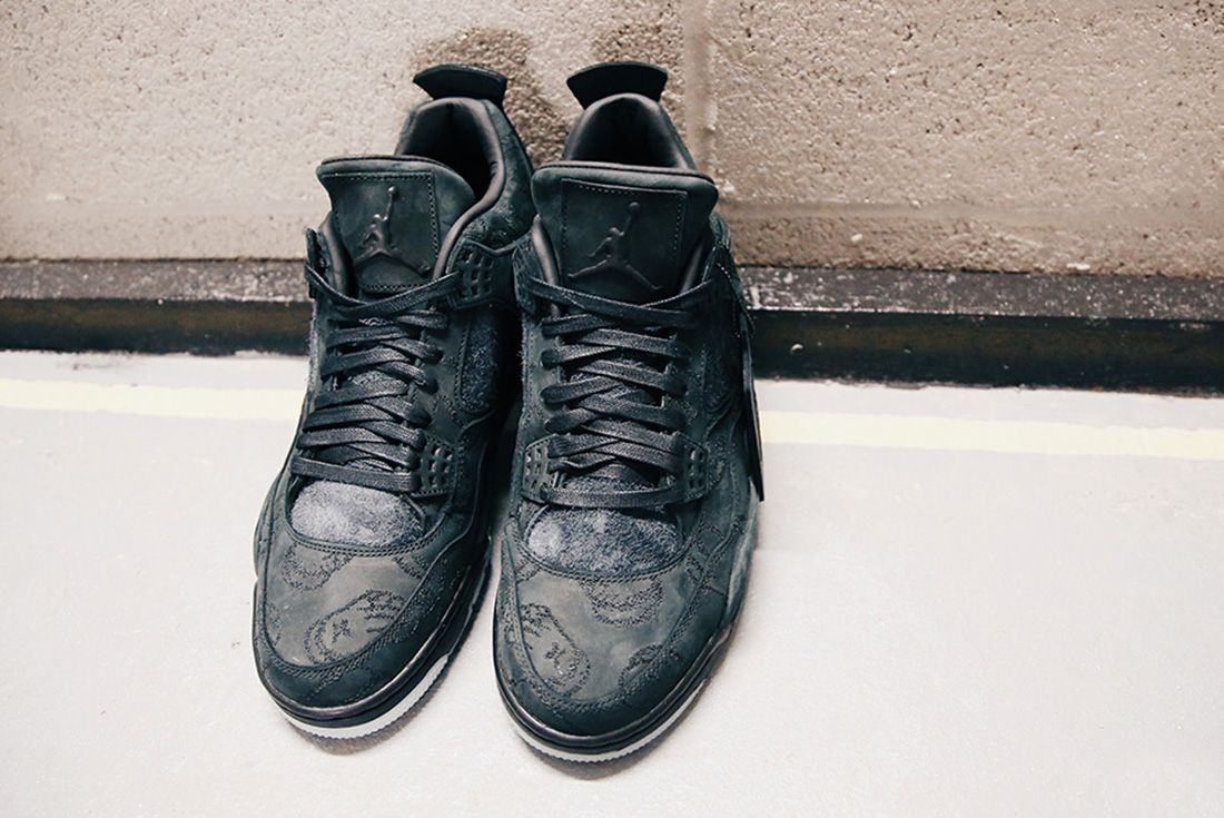 Air Jordan 4 Kaws Black Detail Sneaker Freaker 8