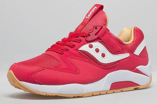Saucony Grid 9000 Red Yellow Gum 1
