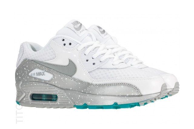 Nike Air Max 90 Metallic Silver Turquoise 1