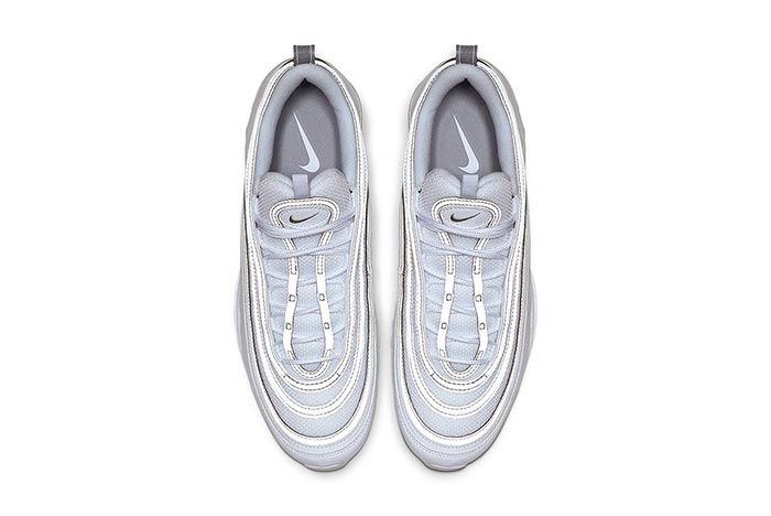 Nike Air Max 97 White Metallic Silver Top