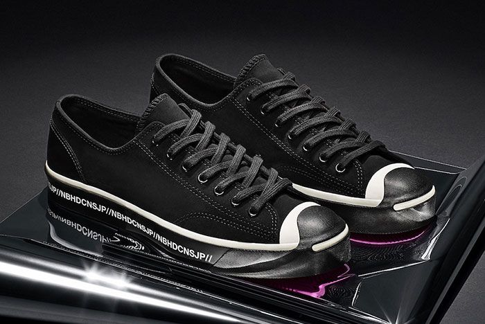 Neighborhood Converse Jack Purcell Black Front Angle
