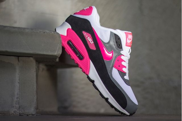 Nike Air Max 90 Cool Grey Black Hyper Pink 2