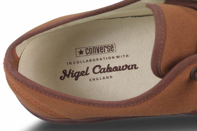 Nigel Cabourn Converse Plimsole Brown Inner Detail 1