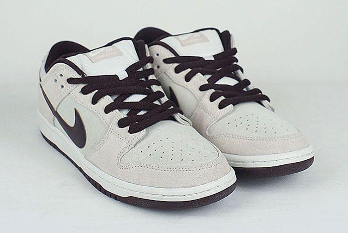 Nike Sb Dunk Low Desert Sand Mahogany Front Angle