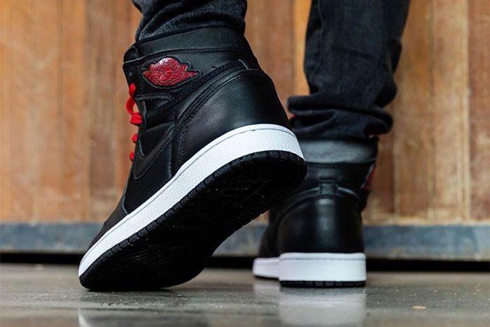 Air Jordan 1 Black Satin On Foot4