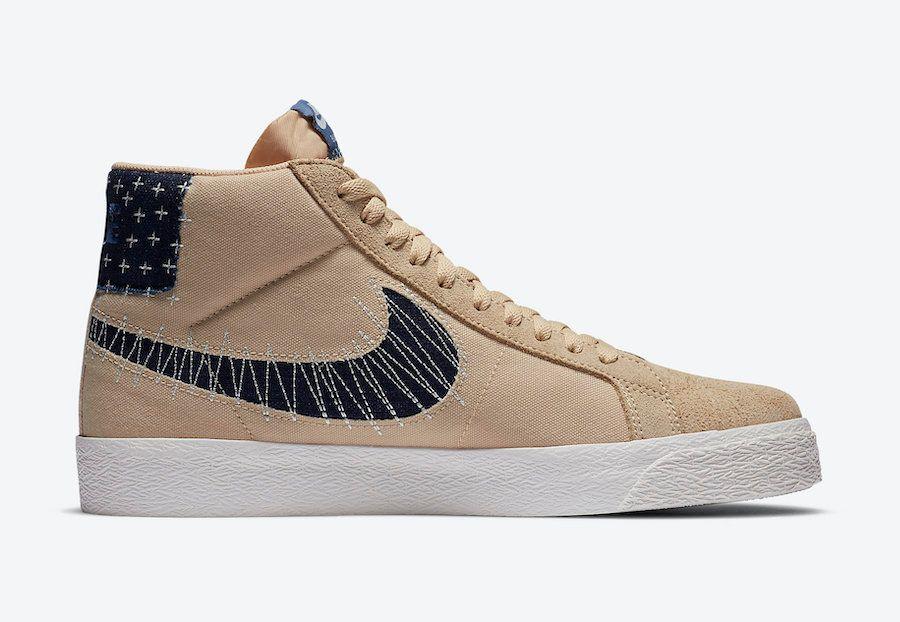 Nike SB Blazer Mid Sesame Right