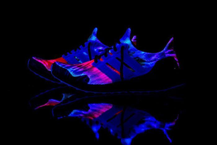 Nice Kicks Adidas Ultra Boost Woodstock Tie Dye Fu9164 Glow In The Dark Lateral Side Shot