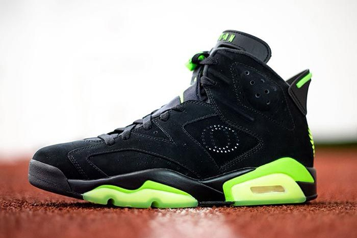 Air Jordan 6 Black University Of Oregon Pe Left Side Shot