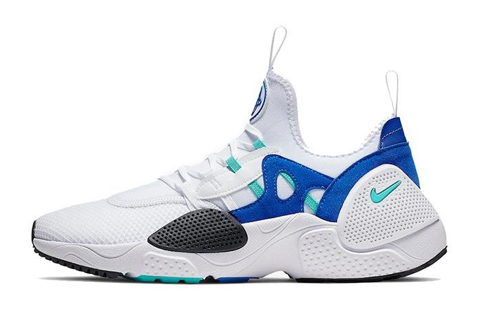 Nike Huarache Edge Txt White Blue Left Side Shot