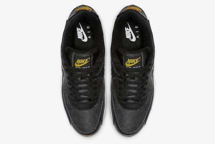 Nike Air Max 90 Black Yellow White Top