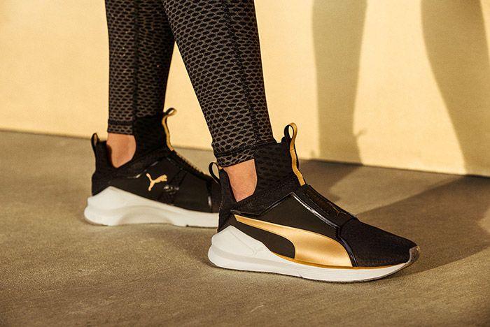 Puma Fierce Black Gold On Feet 2