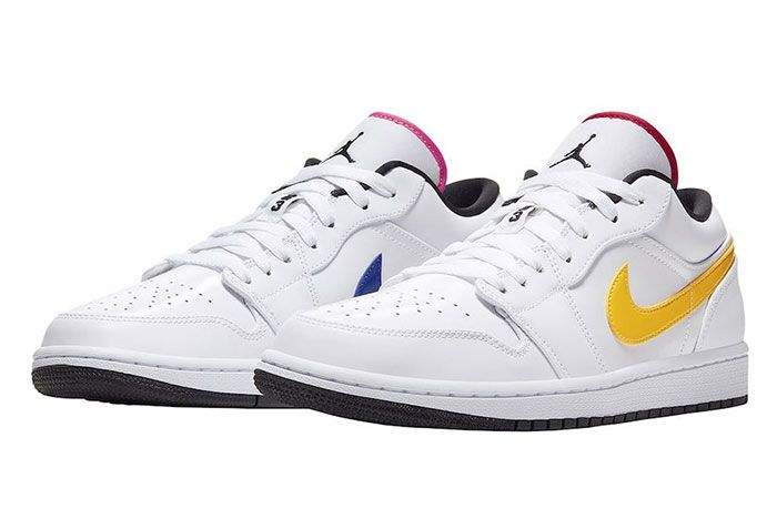 Air Jordan 1 Low White Multi Color Cw7009 100 Release Date