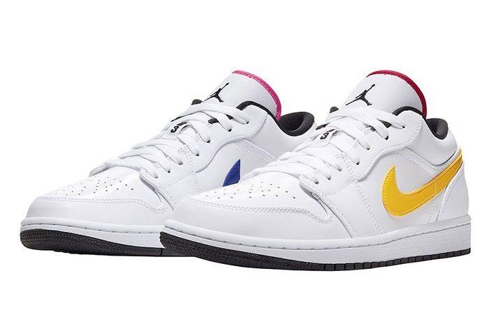 Air Jordan 1 Low White Multi Color Cw7009 100 Release Date