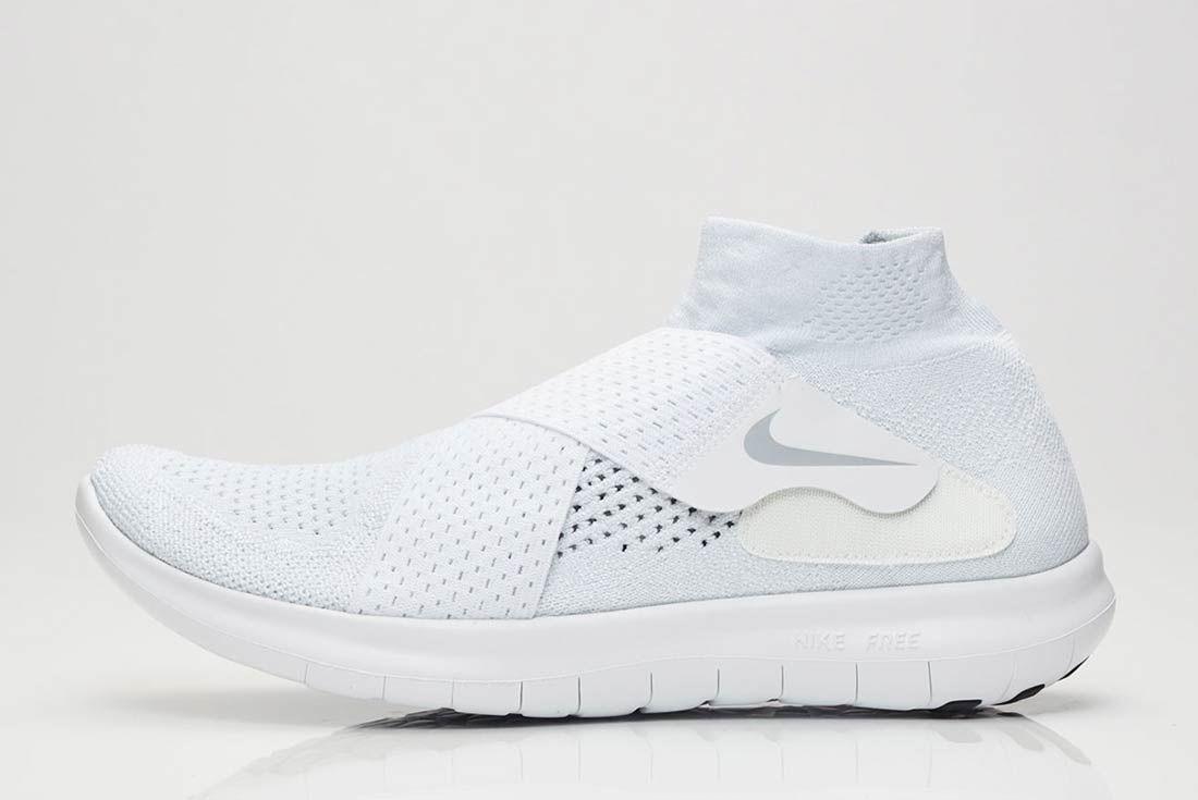 Nike Free Rn Motion 2017 Flyknit Whitegrey 1