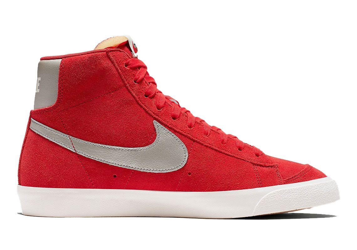 Nike Blazer Mid Vintage Red Cj9693 600 5 Side