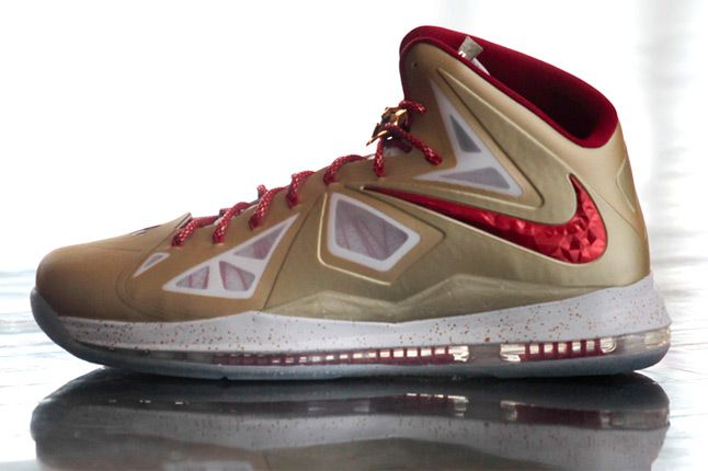 Nike Lebron X Gold Profile 1