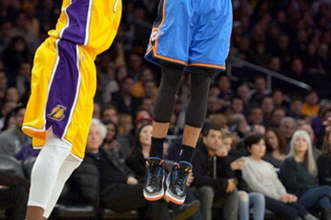 Russell Westbrook On Court Air Jordan 3 Shoes Shooting 1