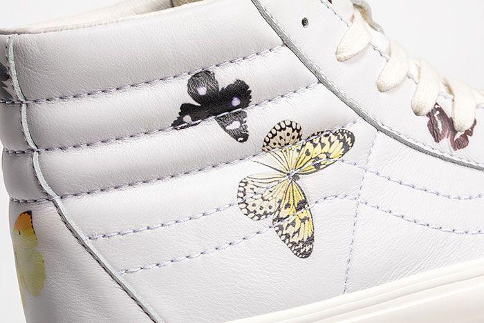 Damien Hirst Vans Vault Sk8 Hi Butterfly Side