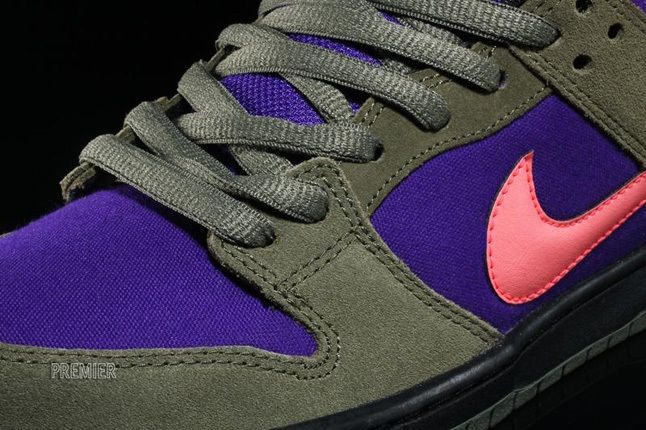 Nikesb Dunk Low Electricolive Lace Detail