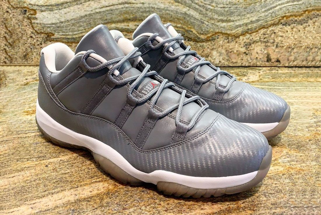 Air Jordan 11 Low Carbon Fiber Cool Grey Sample Side