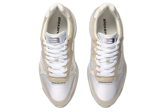 Alexander Wang Stadium Sneaker Pvc White Top View