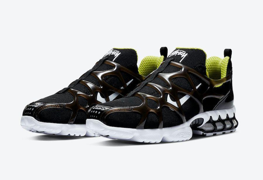 Stussy Nike Air Zoom Spiridon KK Black Angled