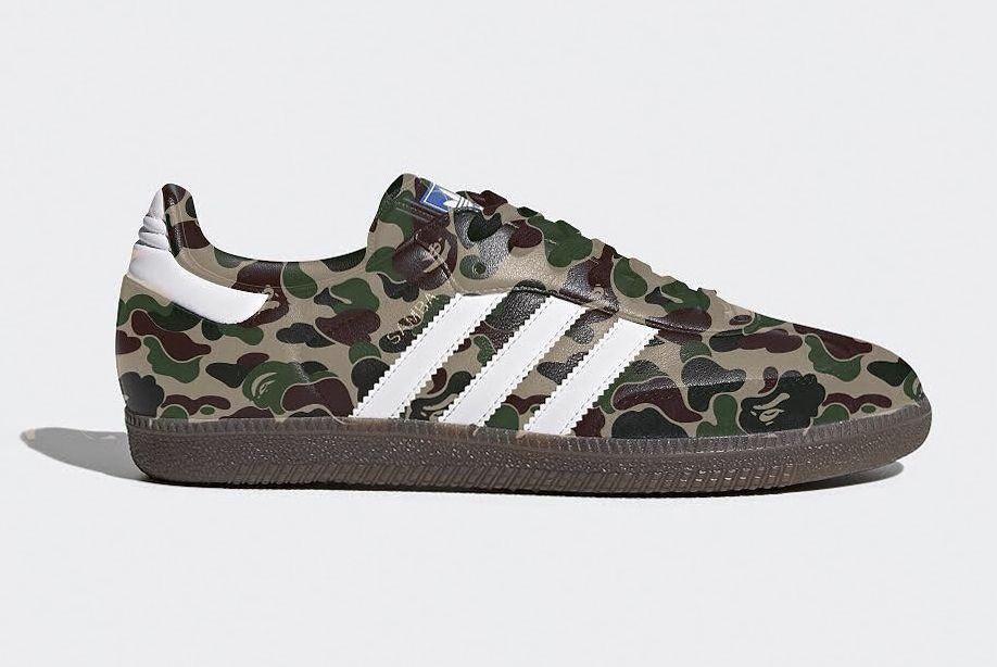 Bape A Bathing Ape Adidas Originals Samba Mockup 1 Sneaker Freaker