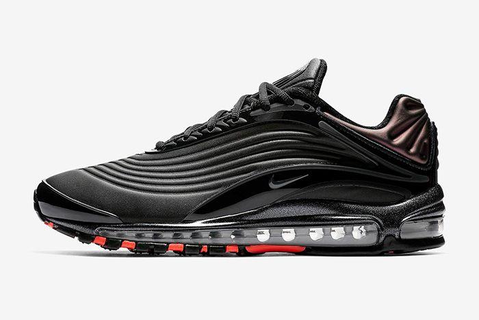 Nike Air Max Deluxe Se Black Anthracite Bright Crimson 2