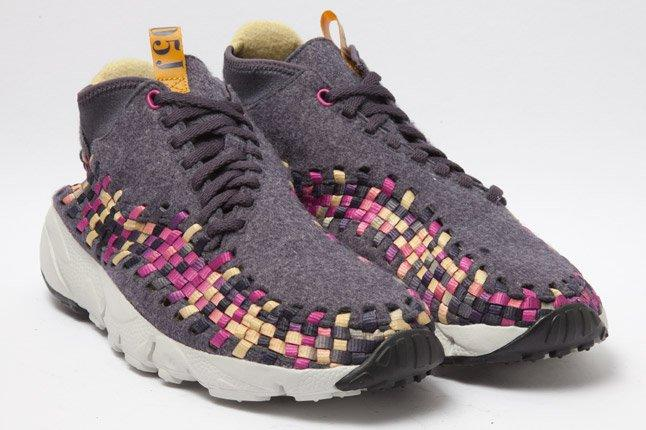 Nike Footscape Woven Chukka Gold Purple Wool Quarter 1