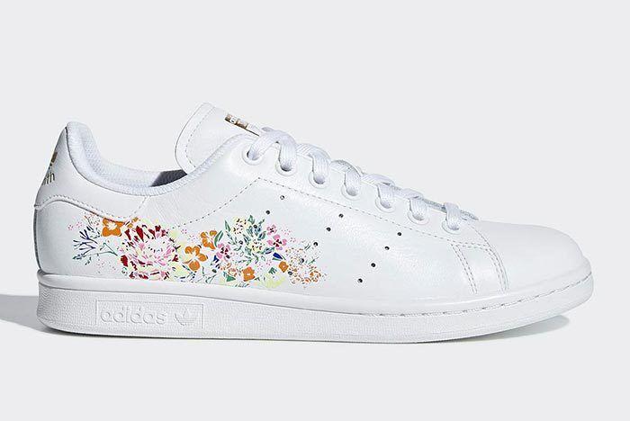 Adidas Stan Smith White Floral 1