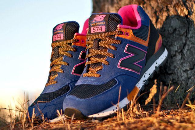 New Balance 574 90S Outdoor Pack Blue Orange Pink 1