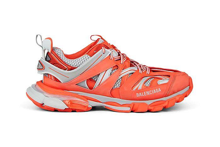 Balenciage Track Sneaker Orange Lateral