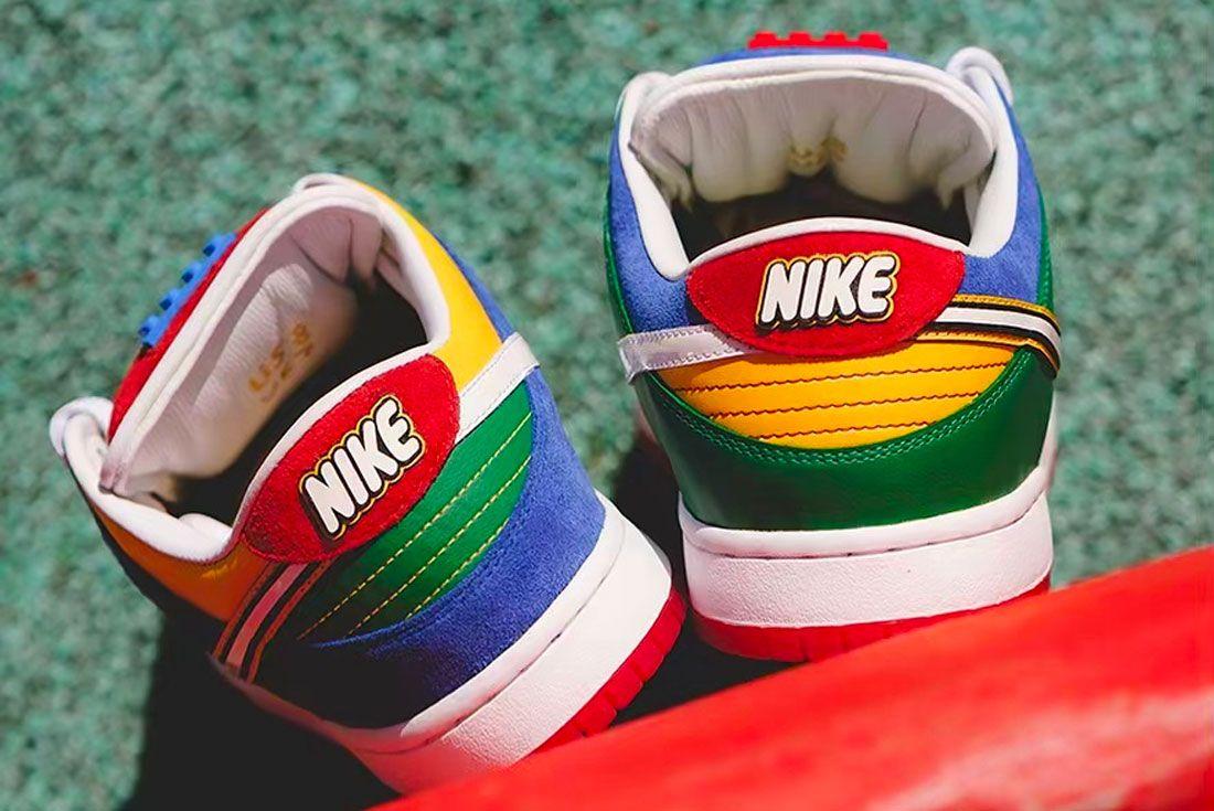 Bespoke Ind Nike Sb Dunk Low Lego Heel