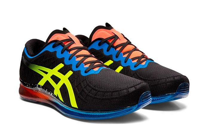 Asics Gel Quantum Infinity Red Blue Black Safety Yellow Quarter