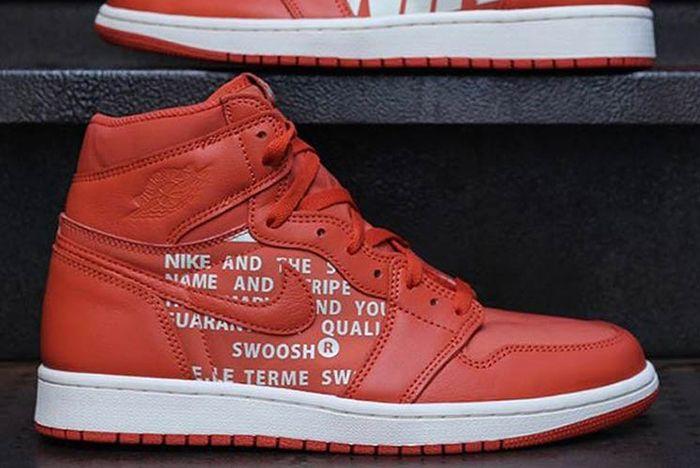 Air Jordan 1 Big Logo Orange 3 Sneaker Freaker