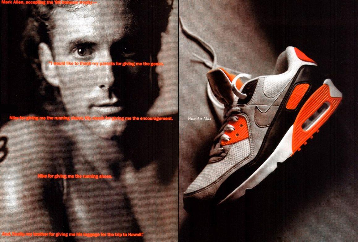 Nike Air Max 90 Infrared Mark Allen Magazine Ad