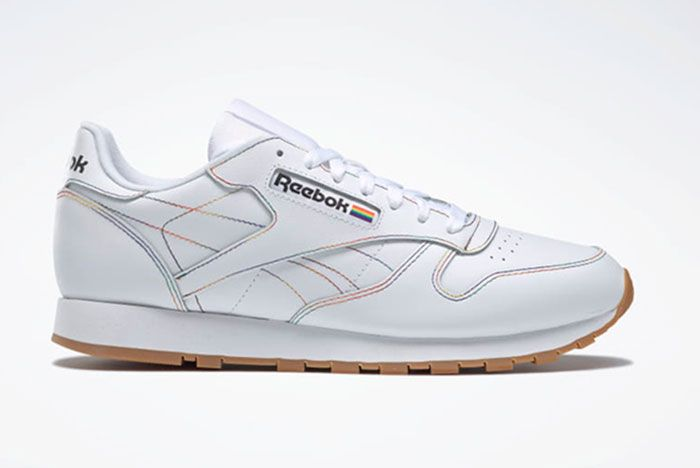 Reebok Pride Pack White Classic Leather Right Side View