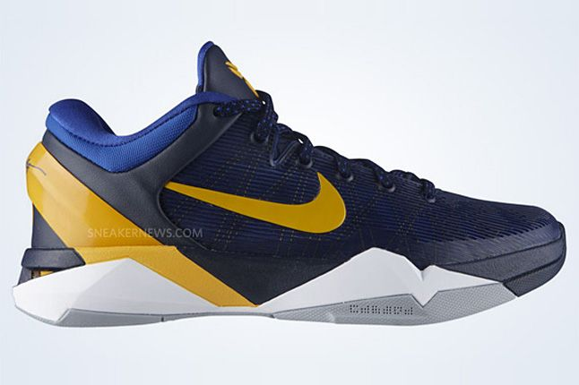 Nike Zoom Kobe Vii Obsidian University Gold Game Royal Wolf Grey 5 1