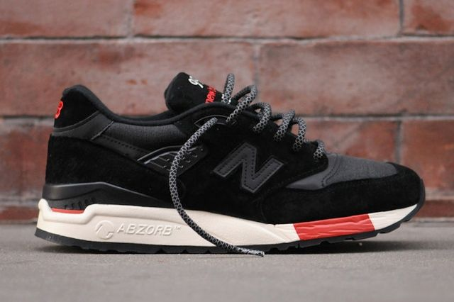 New Balance 998 Black Red Profile