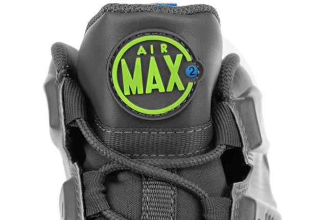 Nike Air Max Barkley Dark Grey Photo Blue Green Tongue 1