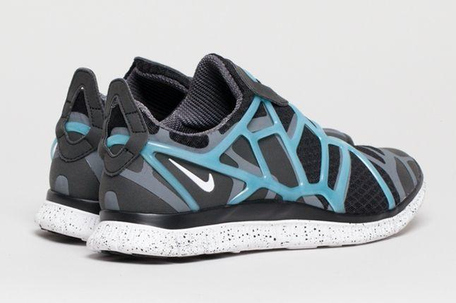 Nike Free Alt Closure Run Drkgrey Blue Heel Quarter 1