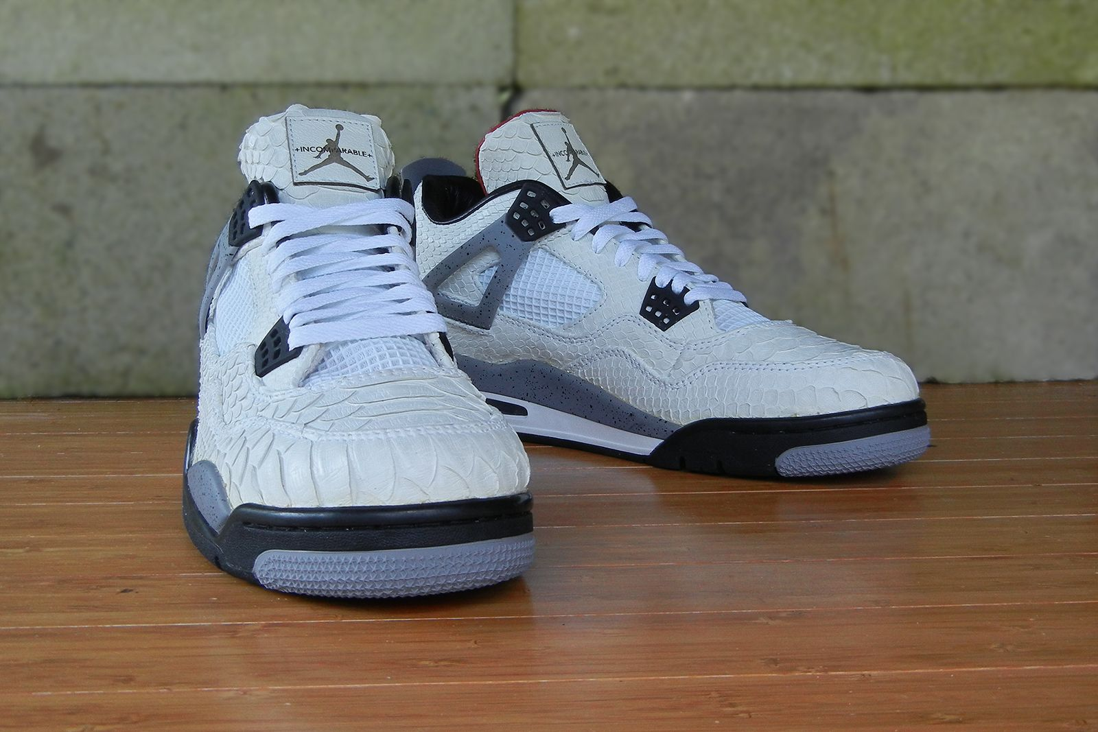 Jbf Customs Air Jordan 4 White Python Cement